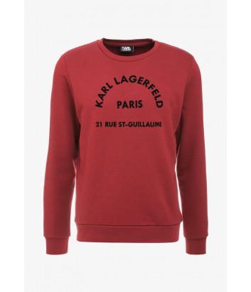 Толстовка Karl Lagerfeld 705012 с логотипом бордовая