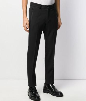 Брюки Karl Lagerfeld 255033 прямого кроя с эластичным поясом черные