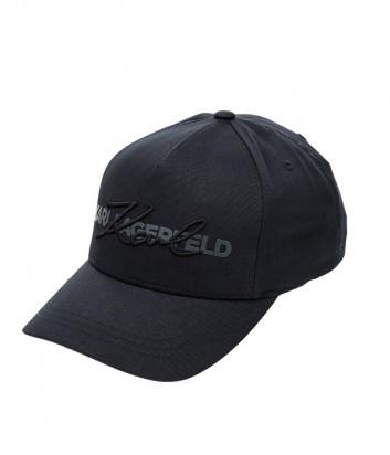Темно-синяя кепка Karl Lagerfeld 805617 с принтом и вышивкой