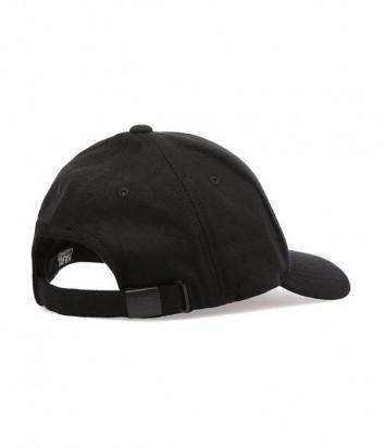 Черная бейсболка Karl Lagerfeld 805610 из шерсти с вышивкой