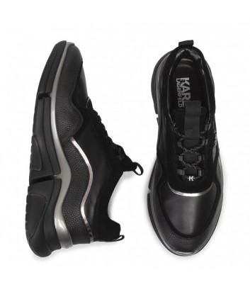 Кожаные кроссовки Karl Lagerfeld KL51720 на платформе черные