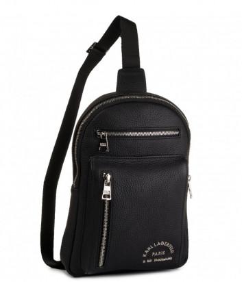 Компактный рюкзак-сумка Karl Lagerfeld 815904 с двумя внешними карманами черный