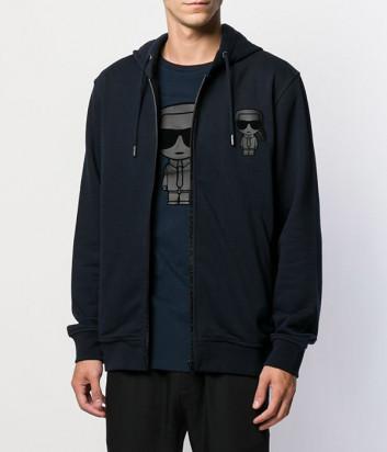 Олимпийка с капюшоном Karl Lagerfeld Ikonik 705080 черная
