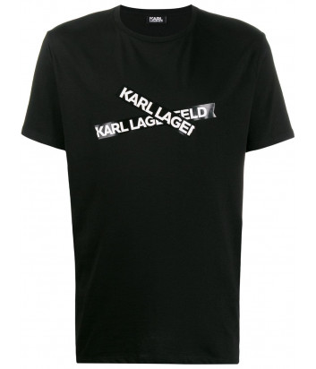 Футболка Karl Lagerfeld 755042 с надписями черная