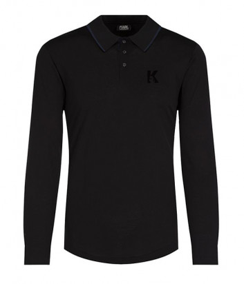 Поло с длинным рукавом Karl Lagerfeld 755001 черное