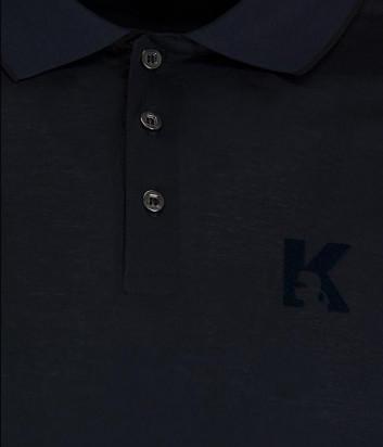 Поло с длинным рукавом Karl Lagerfeld 755001 темно-синее