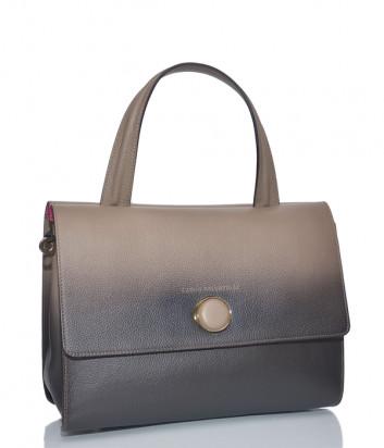 Кожаная сумка Carlo Salvatelli 516 с эффектом деграде коричнево-бежевая