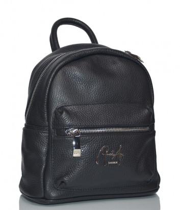 Кожаный рюкзак Renato Angi 2155501 с внешним карманом черный