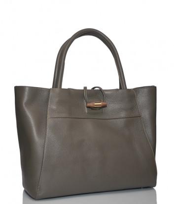 Кожаная сумка Carlo Salvatelli 510 оливковая