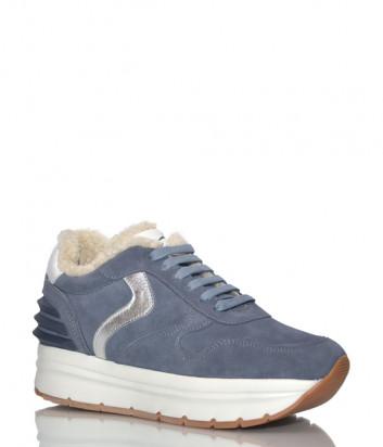 Замшевые кроссовки Voile Blanche 2014350 с мехом синие