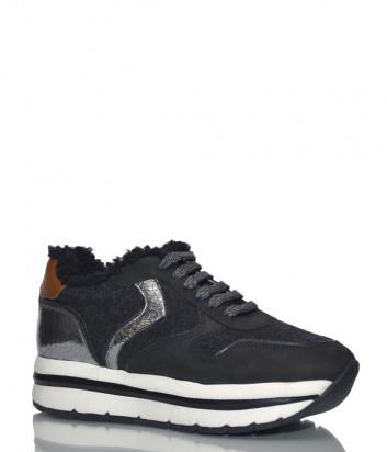 Замшевые кроссовки Voile Blanche 2014167 с мехом черные