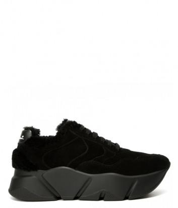 Замшевые кроссовки Voile Blanche 2014295 на платформе с мехом черные