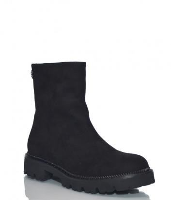 Замшевые ботинки H'estia di Venezia 9855 черные