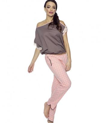 Комплект Pigeon 373-1 футболка и штаны кофейно-розовый