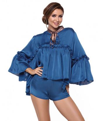 Комплект Pigeon P-598-1 рубашка и шорты синий