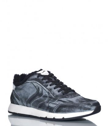 Кожаные кроссовки Voile Blanche 2014213 на меху серые