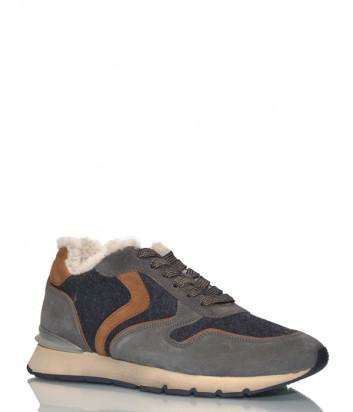 Замшевые кроссовки Voile Blanche 2014155 на меху серые