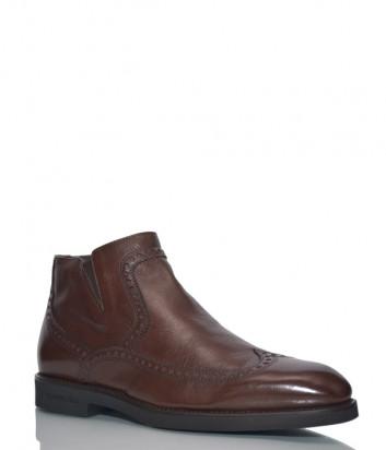 Кожаные ботинки Giampiero Nicola 41226 коричневые