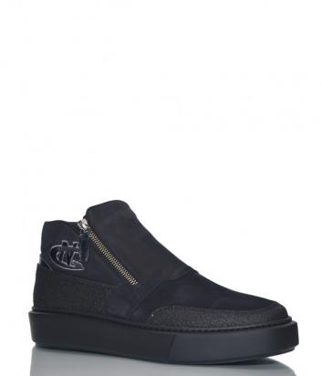Замшевые ботинки Giampiero Nicola 166204 черные