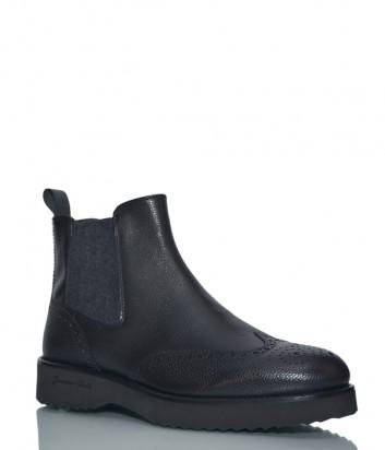 Кожаные ботинки Giampiero Nicola 39627 черные