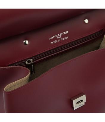 Рюкзак-сумка Lancaster 437-34 в полированной коже красный
