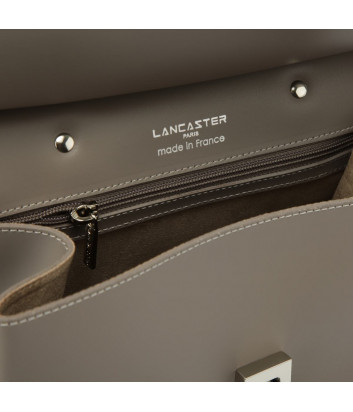 Рюкзак-сумка Lancaster 437-34 в полированной коже бежевый