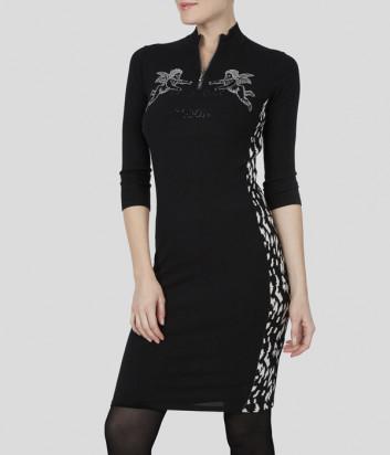 Черное платье Sportalm 909607 с принтом
