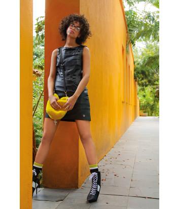 Черное платье Sportalm 908309 из экокожи
