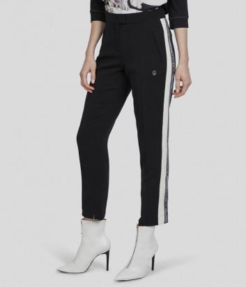 Черные брюки Sportalm 908824 с белыми лампасами