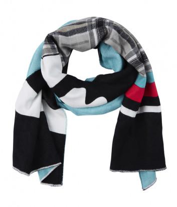 Объемный шарф Sportalm 909709 с цветным принтом