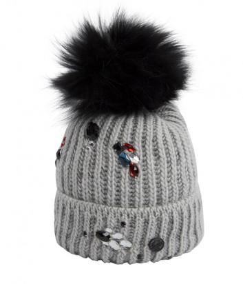 Серая шапка Sportalm 909907 с декором