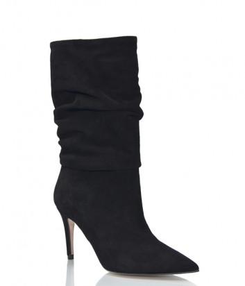 Замшевые сапоги Bianca Di 1080 черные