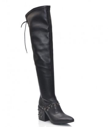 Кожаные ботфорты Fru.it 4906 черные