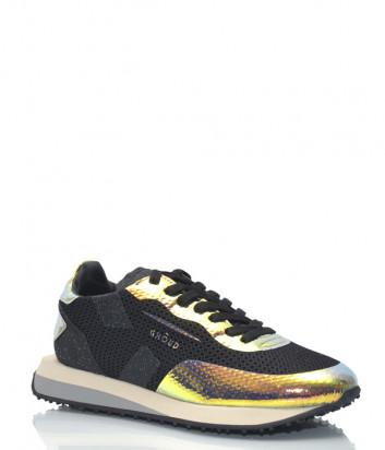 Черные кроссовки Ghoud 17 с золотистыми вставками