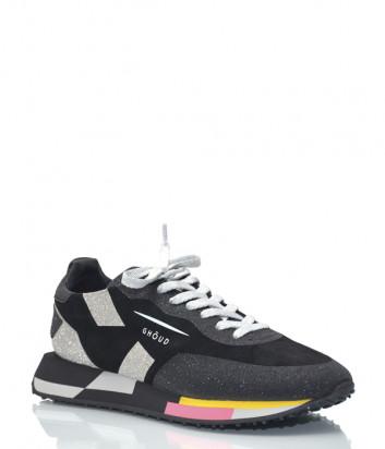 Черные кроссовки Ghoud 14 с серебристыми вставками