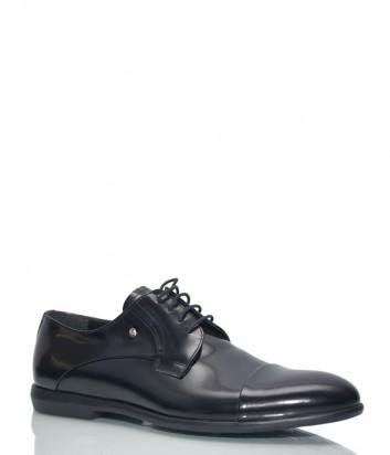 Черные туфли Roberto Serpentini 45200 в полированной коже