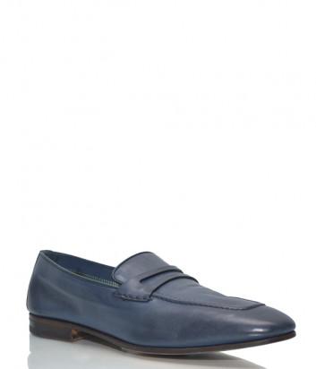 Кожаные туфли-лоферы Fabi 8578 синие