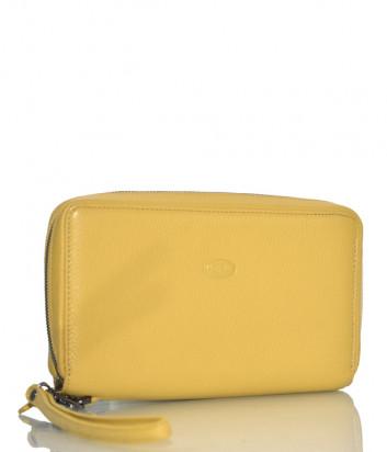 Кожаное портмоне Gilda Tonelli 2968 на молнии желтое