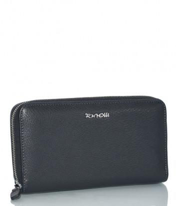 Кожаное портмоне Gilda Tonelli 3136 на молнии черное