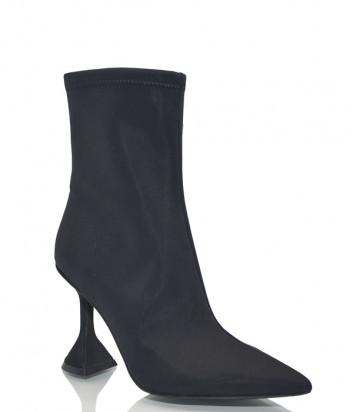 Ботильоны Jeffrey Campbell Entity на фигурном каблуке черные