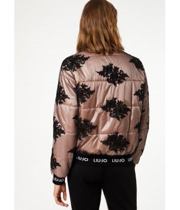 Куртка Liu Jo T69027 розовая с черной вышивкой