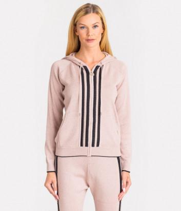 Толстовка Liu Jo T69009 с капюшоном и карманами розовая