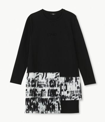 Платье Liu Jo T69165 с плиссировкой черно-белое
