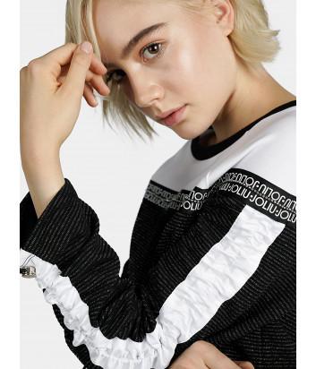 Джемпер Liu Jo T69006 с брендированной тесьмой черно-белый
