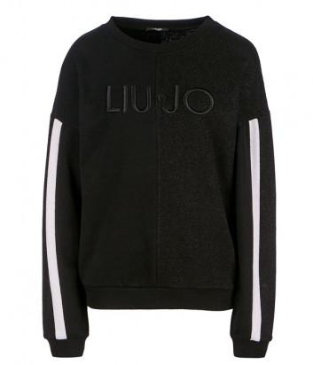 Свитшот Liu Jo T69107 с логотипом бренда черный