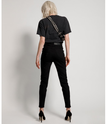 Темно-серые джинсы ONE TEASPOON 22278 с высокой талией