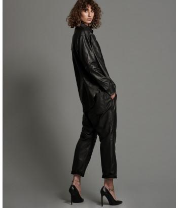 Кожаные брюки ONE TEASPOON 22695 черные