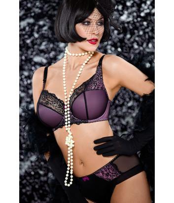 Трусики Ava Mad Women черно-фиолетовые
