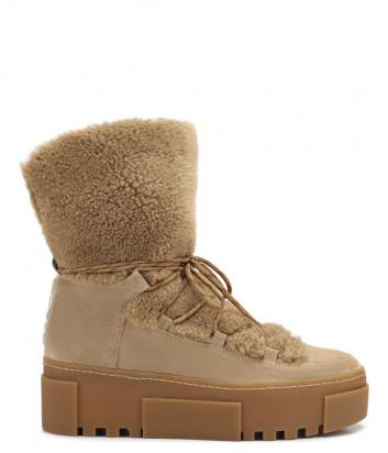 Замшевые ботинки Vic Matie 1V7786D на меху песочные
