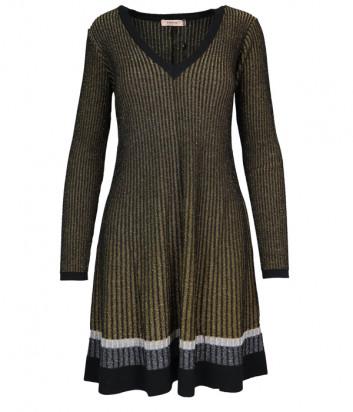 Трикотажное платье TWIN-SET 192TT3180 золотистое